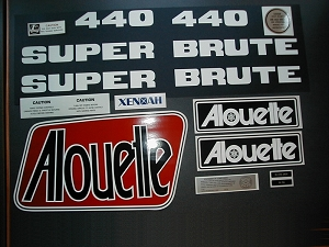 76 Alouette Super Brute 440 Decal Kit