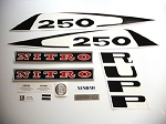 77 RUPP Nitro 250 L/C Decal Kit