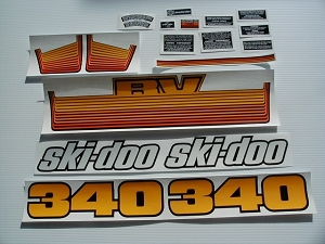 77 Ski Doo RV 340 Decal Kit