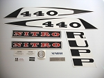 77 RUPP Nitro 440 L/C Decal Kit