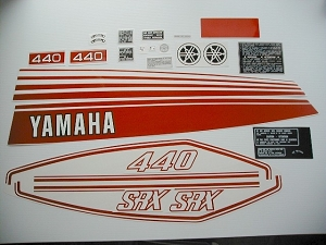 77 YAMAHA SRX 440 Decal Kit