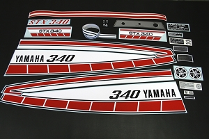 77 YAMAHA STX 340 Decal Kit