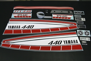 77 YAMAHA STX 440 Decal Kit