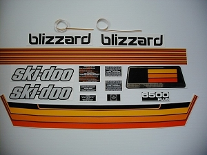 78 Ski Doo Blizzard 6500+ Decal Kit