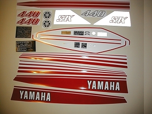 78 YAMAHA SRX 440 Decal Kit