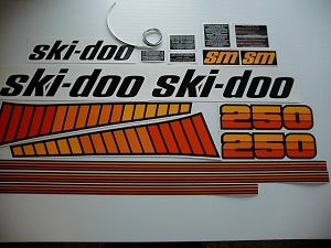 78 Ski Doo SM Blizzard 250 Decal Kit