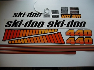 78 Ski Doo SM Blizzard 440 Decal Kit