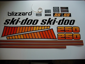 78 Ski Doo Super Stock Blizzard 250 Decal Kit