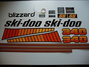 78 Ski Doo SS Blizzard 340 Decal Kit