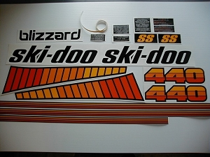 78 Ski Doo SS Blizzard 440 Decal Kit