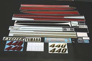 79 YAMAHA Exciter 440 Decal Kit