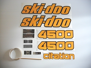 80 Ski Doo Citation 4500 Decal Kit
