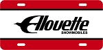 Alouette Vintage Snowmobile Aluminum License Plate