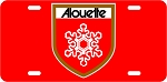 Alouette Shield Vintage Snowmobile Aluminum License Plate