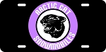 Arctic Cat Logo Cat Head in Purple Vintage Snowmobile License Plate