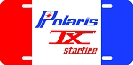 Polaris TX Starfire Logo Vintage Snowmobile License Plate
