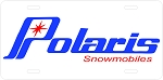 Polaris Logo Vintage Snowmobile License Plate