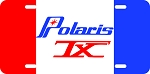 Polaris TX Logo Vintage Snowmobile License Plate