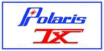 Polaris TX Logo Vintage Snowmobile License Plate(2)