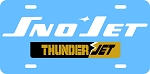 Sno Jet ThunderJet Logo Vintage Snowmobile License Plate