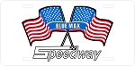 Speedway Logo Vintage Snowmobile License Plate