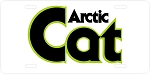 Arctic Cat Vintage Snowmobile Green Words Logo License Plate