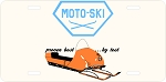 Moto-Ski Dealer Logo Vintage Snowmobile License Plate
