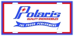 Polaris Quality Snowmobiles Logo Vintage Snowmobile License Plate