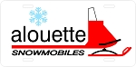 Alouette Sled Vintage Snowmobile License Plate