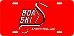 Boa-Ski Snake Logo Vintage Snowmobile License Plate
