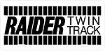 Raider Twin Track Logo Vintage Snowmobile License Plate