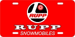 Rupp Logo Vintage Snowmobile License Plate
