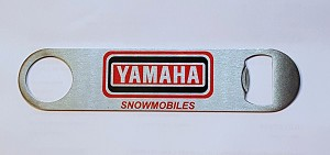 New Stainless Steel Bottle Opener with Vintage Yamaha Snowmobiles Logo