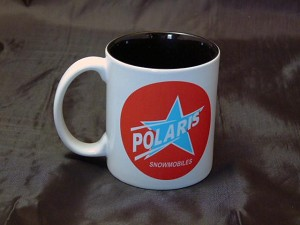 Polaris Blue Star Logo Ceramic Coffee Mug