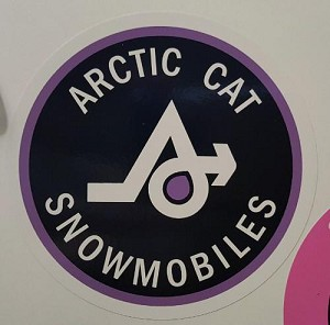 "Purple Arctic Cat ""A"" Round Decal"