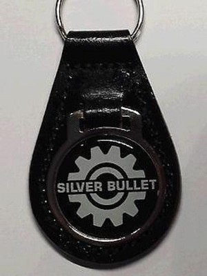 Reproduction Vintage SkiDoo Silver Bullet Snowmobile  Leather Keychain