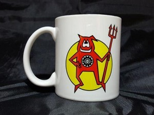 Ski Doo Devil Snowmobile Logo Ceramic Coffee Mug