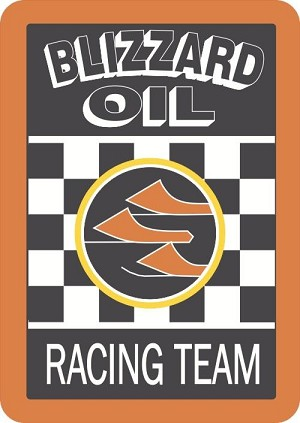 8' Blizzard Oil Square Racing Decal
